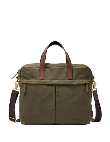 Fossil Buckner TOP Zip Workbag-GREEN-One Size