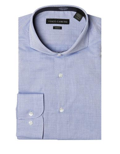 Vince Camuto Slim-Fit Cutaway Dobby Dress Shirt-BLUE-17-32/33