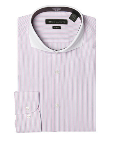 Vince Camuto Slim-Fit Striped Banker Dress Shirt-ROSE-14.5-32/33