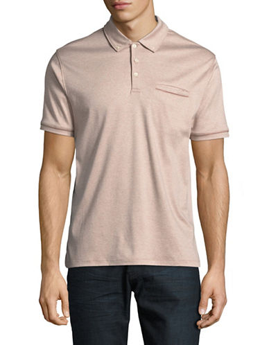 Black Brown 1826 End on End Cotton Polo-GREY-Medium