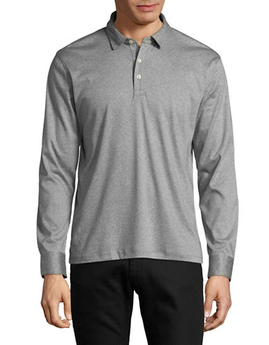 Black Brown 1826 Liquid Cotton Polo-GREY-Small
