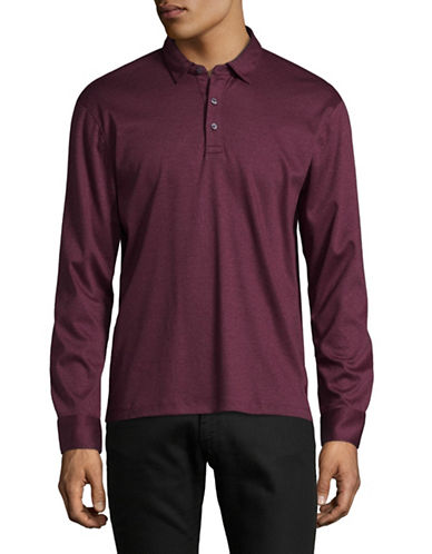 Black Brown 1826 Liquid Cotton Polo-RED-X-Large