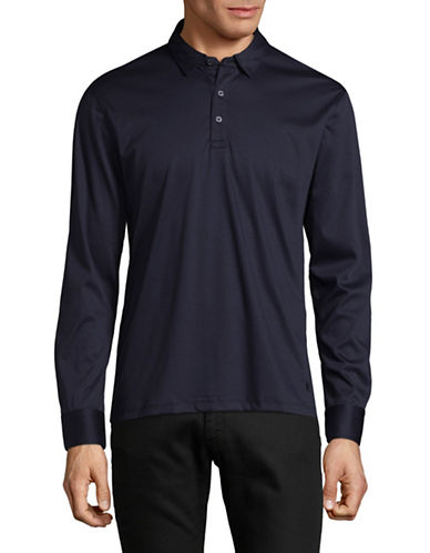 Black Brown 1826 Liquid Cotton Polo-BLUE-XX-Large