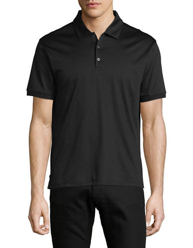 Black Brown 1826 Short-Sleeve Cotton Interlock Polo-GREY-Large