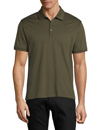Black Brown 1826 Short-Sleeve Cotton Interlock Polo-GREEN-Large