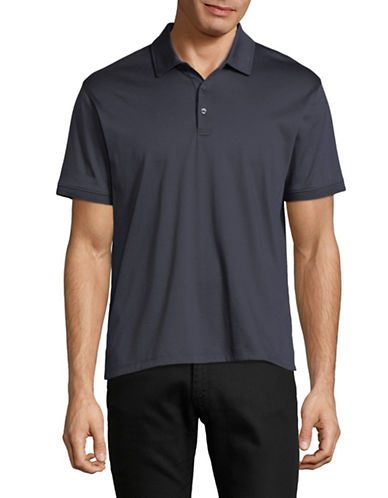 Black Brown 1826 Short-Sleeve Cotton Interlock Polo-NAVY-Medium