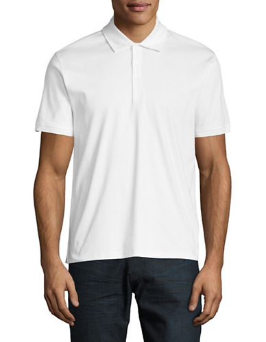 Black Brown 1826 Short-Sleeve Cotton Interlock Polo-WHITE-Medium