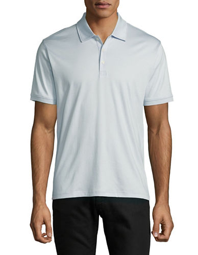 Black Brown 1826 Short-Sleeve Cotton Interlock Polo-BLUE-Small