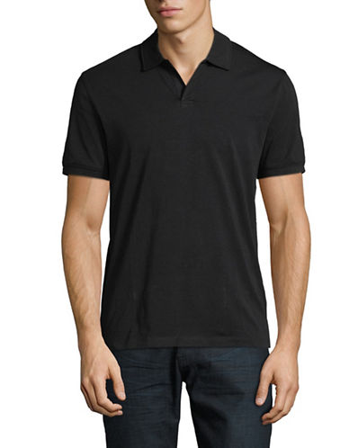 Black Brown 1826 Classic Cotton Polo-GREY-Medium