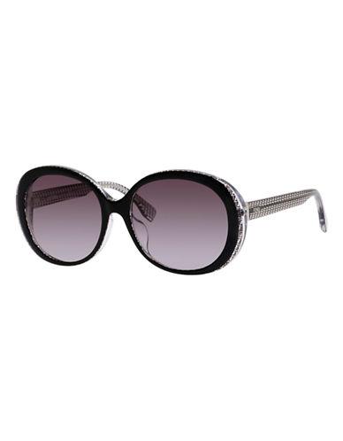 Fendi Round 0001/S Sunglasses-BLACK CRYSTAL-One Size