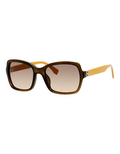 Fendi Rectangular 0007 / S Sunglasses-TRANSPARENT BROWN-One Size