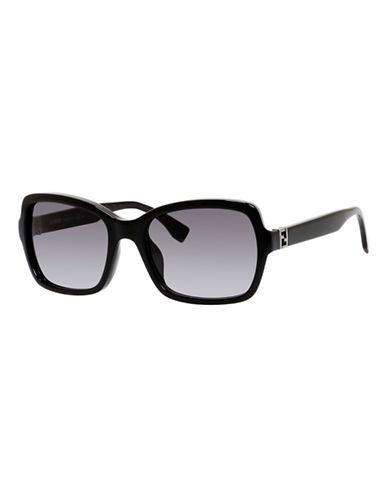 Fendi Rectangular 0007 / S Sunglasses-SHINY BLACK-One Size