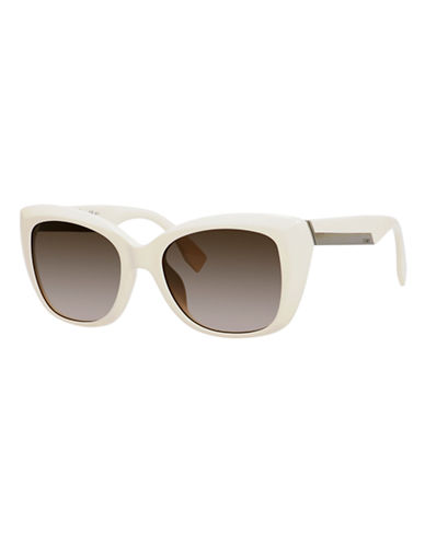 Fendi Rectangular 0019/S Sunglasses-IVORY-One Size