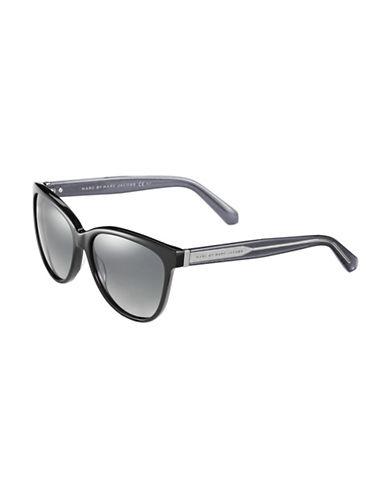 Marc Jacobs Round Cat Eye Sunglasses-BLACK-One Size