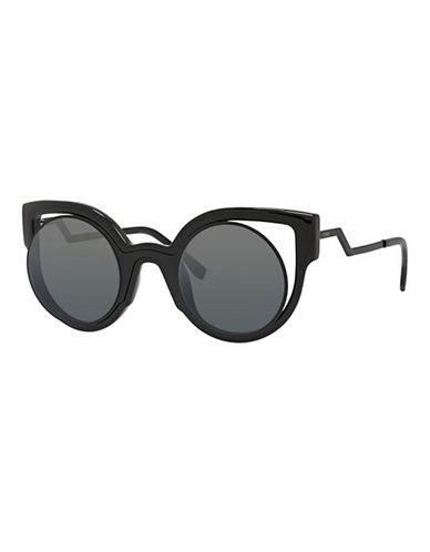 Fendi Modified 49mm Cat-Eye Sunglasses-BLACK-One Size
