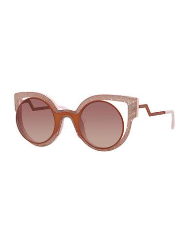 Fendi Modified 49mm Cat-Eye Sunglasses-GLITTER PINK-One Size
