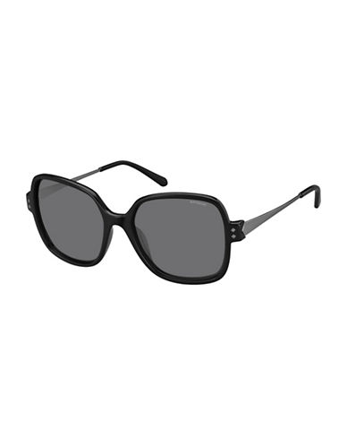 Polaroid PLD4046S 55mm Square Sunglasses-BLACK-One Size