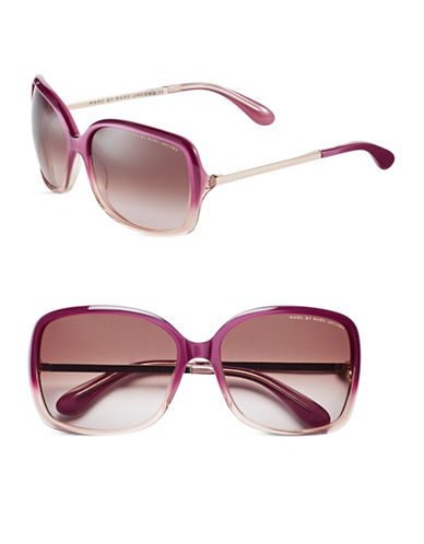 Marc Jacobs 59mm Oversized Square Sunglasses-PURPLE PEACH-One Size