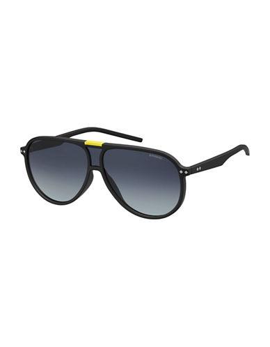 Polaroid PLD6025S 99mm Aviator Sunglasses-BLACK-One Size