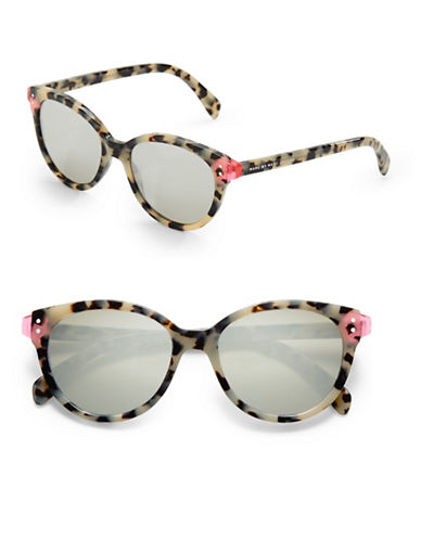Marc Jacobs 51mm Round Cat-Eye Sunglasses-HAVANA-One Size