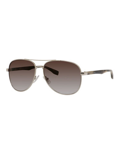 Boss 60mm Aviator Sunglasses-GREY-One Size