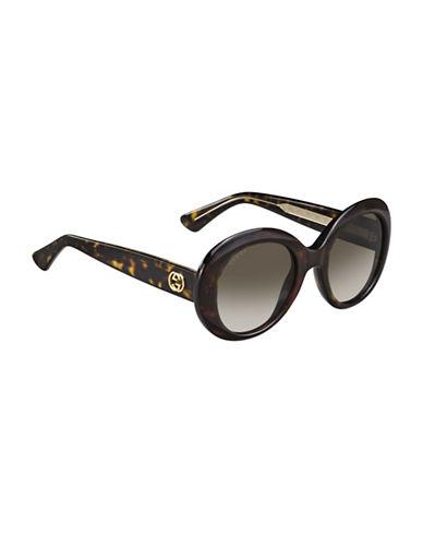 Gucci 54mm Classic Round Sunglasses-HAVANA-One Size