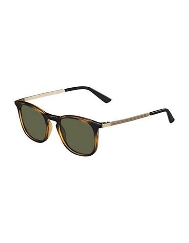 Gucci Tortoise Square Sunglasses-LIGHT HAVANA / GREEN-One Size