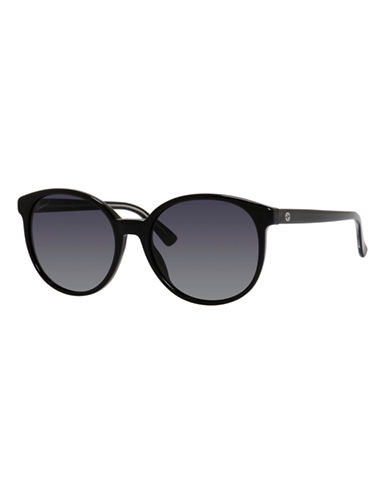 Gucci GG3722 / S Oval Sunglasses-BLACK CRYSTAL-One Size