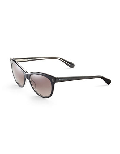 Marc Jacobs 434S 53mm Round Sunglasses-BLACK CRYSTAL-One Size