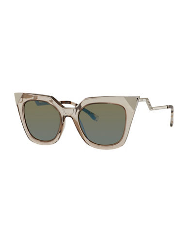 Fendi Crystal Cat-Eye Sunglasses-DOVE GREY-One Size