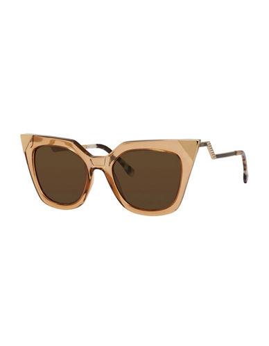 Fendi Crystal Cat-Eye Sunglasses-CHAMPAGNE-One Size