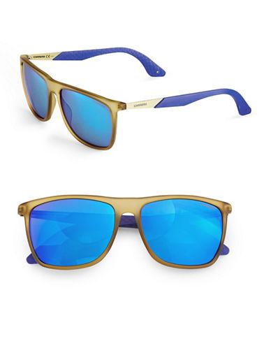 Carrera 56 mm Rectangular Sunglasses-CEDAR BLUE-One Size