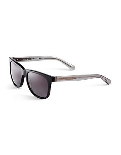 Marc Jacobs Wayfarer Gradient Sunglasses-BLACK GRAY CRYSTAL-One Size