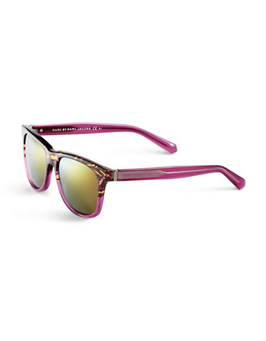 Marc Jacobs Wayfarer Gradient Sunglasses-HAVANA PINK CRYSTAL-One Size