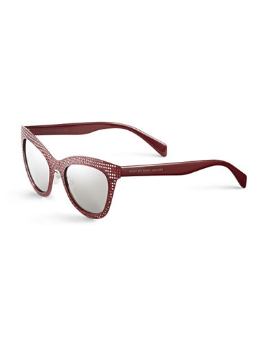 Marc Jacobs Perforated Cat-Eye Sunglasses-MATTE RED-One Size