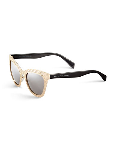 Marc Jacobs Perforated Cat-Eye Sunglasses-GOLD BLACK-One Size