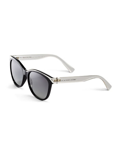 Marc Jacobs Two-Tone Wayfarer Sunglasses-CRYSTAL BLACK-One Size