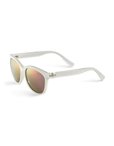 Marc Jacobs Two-Tone Wayfarer Sunglasses-CRYSTAL-One Size