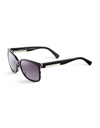 Marc Jacobs Large Wayfarer Sunglasses-STRIPED BLACK-One Size
