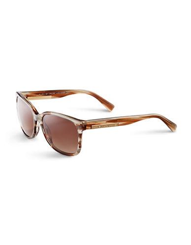 Marc Jacobs Large Wayfarer Sunglasses-STRIPED BROWN-One Size