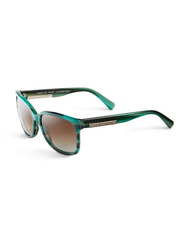 Marc Jacobs Large Wayfarer Sunglasses-STRIPED GREEN-One Size