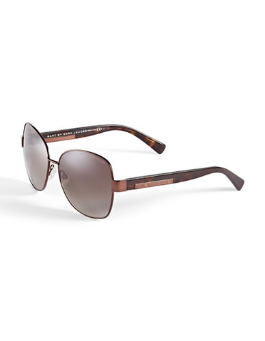 Marc Jacobs 442S 59mm Square Sunglasses-BROWN-One Size