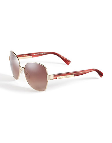 Marc Jacobs 442S 59mm Square Sunglasses-GOLD-One Size