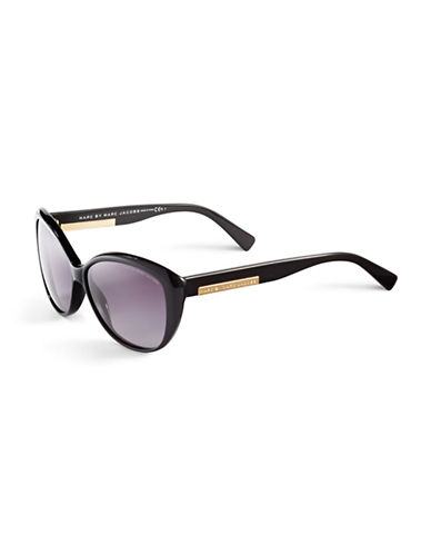 Marc Jacobs Retro Cat-Eye Sunglasses-BLACK-One Size