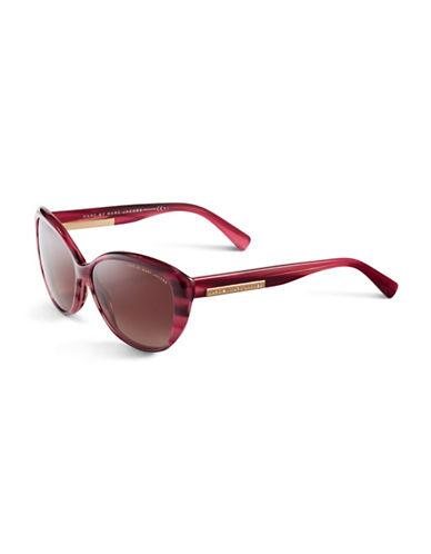 Marc Jacobs Retro Cat-Eye Sunglasses-STRIPED BURGUNDY-One Size