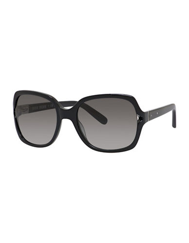 Bobbi Brown 56mm Harper Square Sunglasses-BLACK-One Size