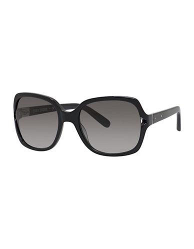 Bobbi Brown 56mm Harper Square Sunglasses-BLACK-One Size