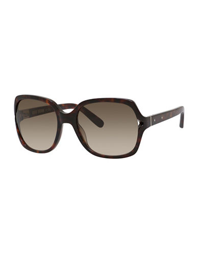 Bobbi Brown 56mm Harper Square Sunglasses-HAVANA-One Size