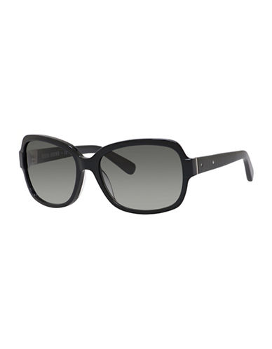 Bobbi Brown 56mm Evelyn Round Sunglasses-BLACK-One Size
