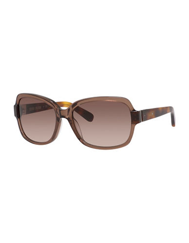 Bobbi Brown 56mm Evelyn Round Sunglasses-BROWN HAVANA-One Size